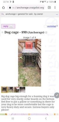 Dog cage for sale Anchorage, 99518