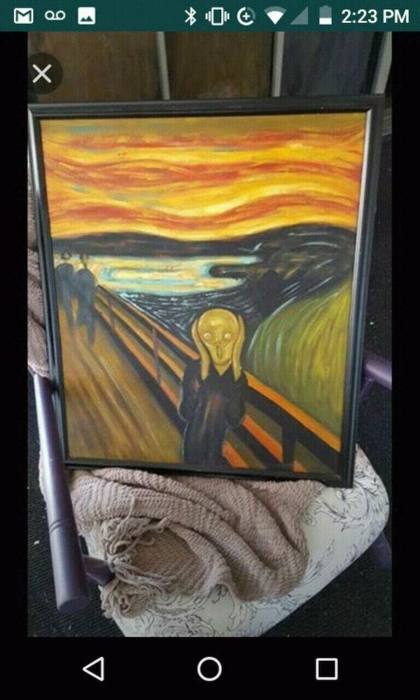The Scream, real oil reproduction