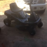 black ride-on mower