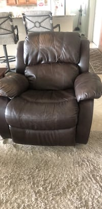 black leather recliner sofa chair Port Charlotte, 33981