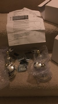 Chrome and gold rim for oval mirror hanging Brand new Potomac, 20854