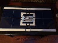 Georgia Southern colored tiled end table. Decal is not attached and will be included at no charge