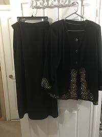 Long Skirt with blazer Euc  Milton, L9T