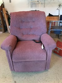 Mauve/ rose colored power lift chair. Stands you up. Holmdel, 07733