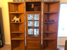 Curio cabinet and corner shelving unit