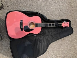 Jay Turser acoustic guitar and case