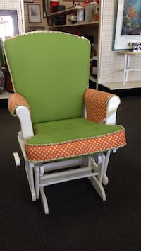 green and white wooden armchair 2336 mi