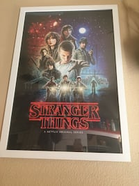Stranger things poster with frame