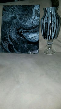 Hand Poured Painting and Vase Las Vegas, 89106
