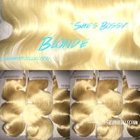 """Hair wig ... """"she's Bossy"""" Blonde Frontal and bundles available (613)"""