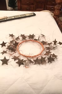 """""""Janet"""" 10"""" inner circle and outer 20"""" metal star wreath Lexington, 40515"""