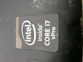 Intel i7 Vpro laptop processor