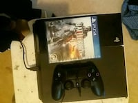 black Sony PS4 game console with controller and game cases Richmond, 23223