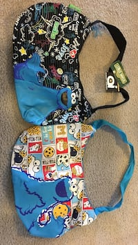 Cookie Monster purses