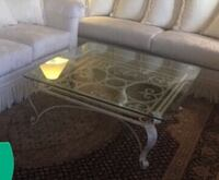 White iron glass table 40no 40 high 18 Las Vegas, 89120