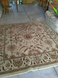 brown and white floral area rug Escalon, 95320