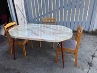 Marble looking table ... donated for grieving parents society  Edmonton, T5L 0P7