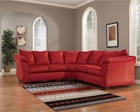 Red Sectional Like New Norfolk, 23518