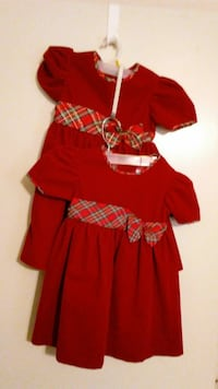 Little girl's red dresses