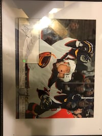 """Marian Hossa signed and framed picture   13""""x16""""."""