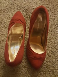 Charlotte Russo red suede shoes Wareham, 01702
