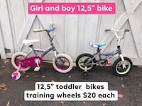 "12,5"" toddler bikes with training wheels each $20 2-5 years old New City"