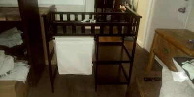 changing table and bassinet