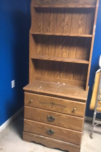 Dresser with shelves top comes off. Has been stored in basement.  Glen Burnie, 21060
