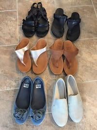 Six pairs of women's shoes size 10 Supercoomf Fitflop Waterloo, N2T 0A3