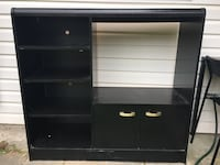 black wooden TV stand with shelf Port Coquitlam, V3B 1Y2
