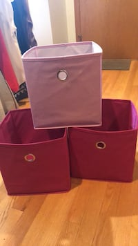 Pink storage  boxes for cubbies Chicago, 60622