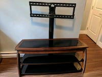TV entertainment stand, glass/wood - reduced! Surrey, V4N 4H4