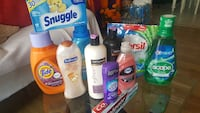 assorted toiletries