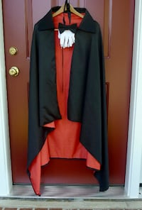 Pro Costume Vampire / Magician Costume Cape (w/Gloves & Bow Tie) PRICE FIRM