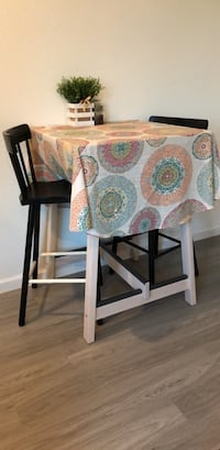 Bar-height IKEA dinette and two stools Sarasota, 34232