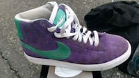 pair of purple-and-green Nike sneakers Vancouver, V6A 2C2
