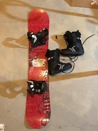 Burton snowboard, bindings and boots. Size 10 boots.  Calgary, T2X 0G4