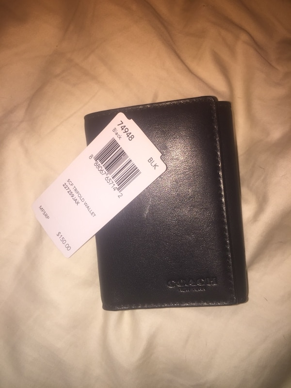 d0cdfb60b173 Used Black men's leather Coach wallet Brand New for sale in Broken Arrow -  letgo