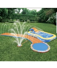 Brand new Kids playground backyard patio poolside slide pool