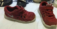 red and beige nike sneakers!