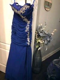 Blue sparkly gown  Barrie