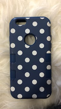 black and white polka dot iPhone case Linden, 07036