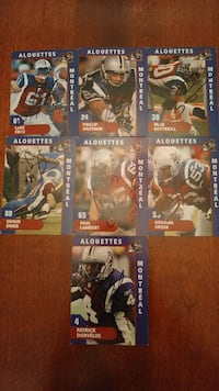 7 Autographed Alouettes Montreal Cards Montreal, H2E 2H6