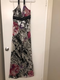 women's black and white floral sleeveless dress Toronto, M3J 1E3