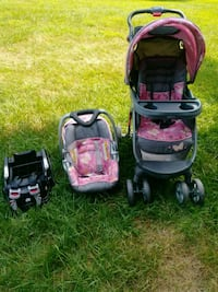 baby's black-and-pink travel system Gaithersburg