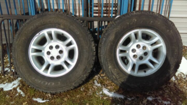 Photo Dodge Rims, Never used Tires, used Tires.