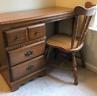 Solid wood antique desk and chair set Boyds, 20841