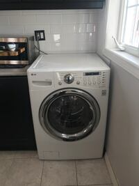 white front-load clothes washer Toronto, M6M 3H2