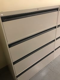 Grey 4 drawer Lateral