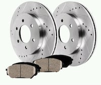 NEW PAIR FRONT DRILLED SLOTTED BRAKE ROTORS AND CE Hagerstown, 21740
